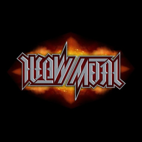 """Heavy Metal"", rotational ambigram"